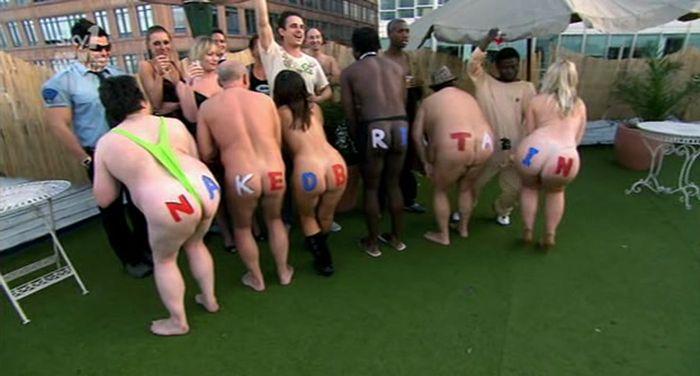 La Grande-Bretagne nue sur la chaîne de télévision Sky One