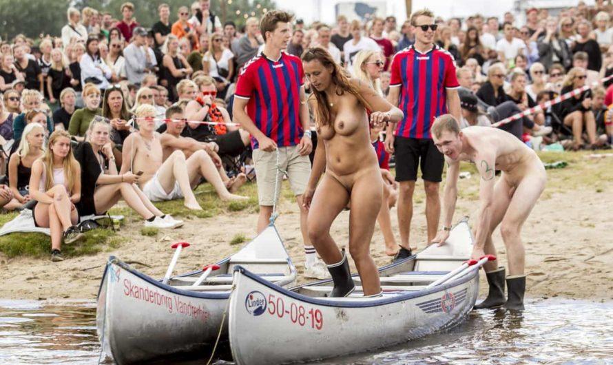Course annuelle nue de canoë Caspers, au danemark edition 2016