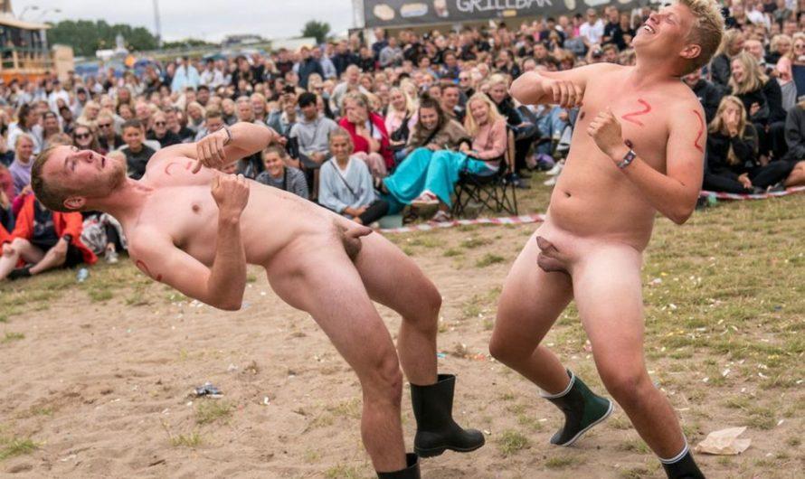 Course annuelle nue de canoë Caspers, au danemark edition 2017