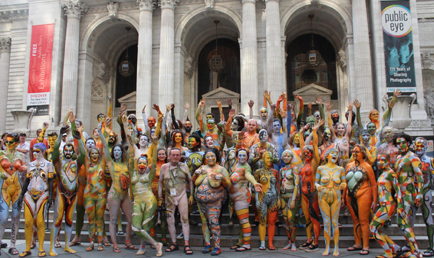 7eme édition de la journée body painting à Time Square New York (USA)