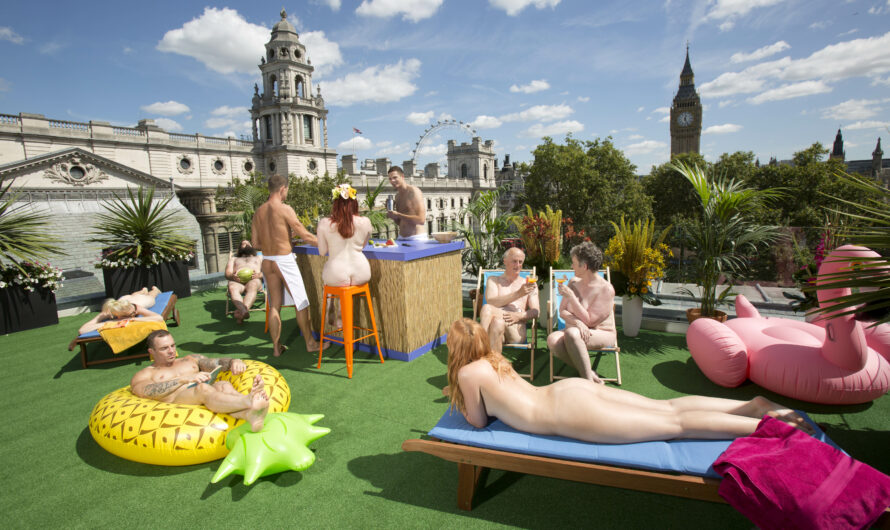 La terrasse pour nudistes à Londres