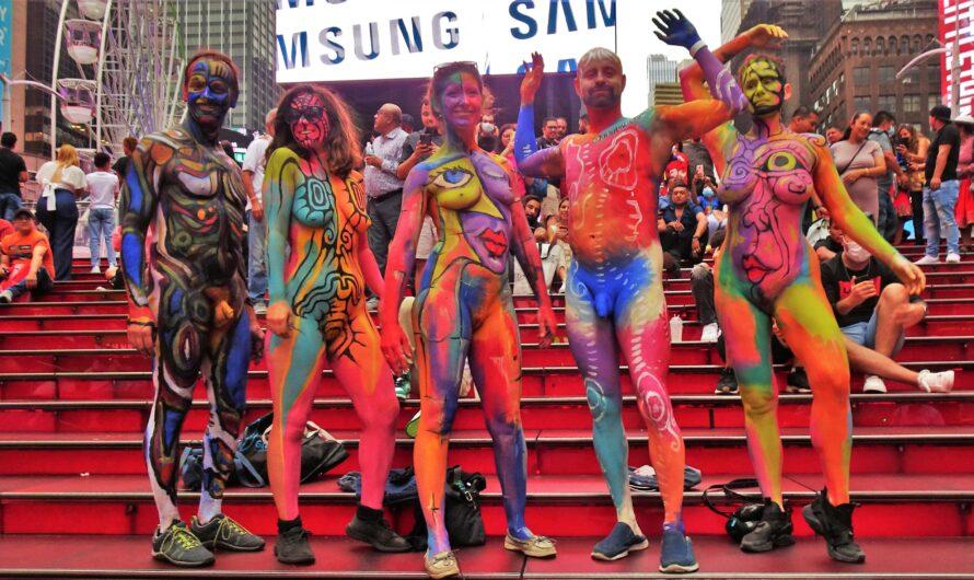 Jour de Maquillage le 29 Aout 2021 à Times Square New York USA